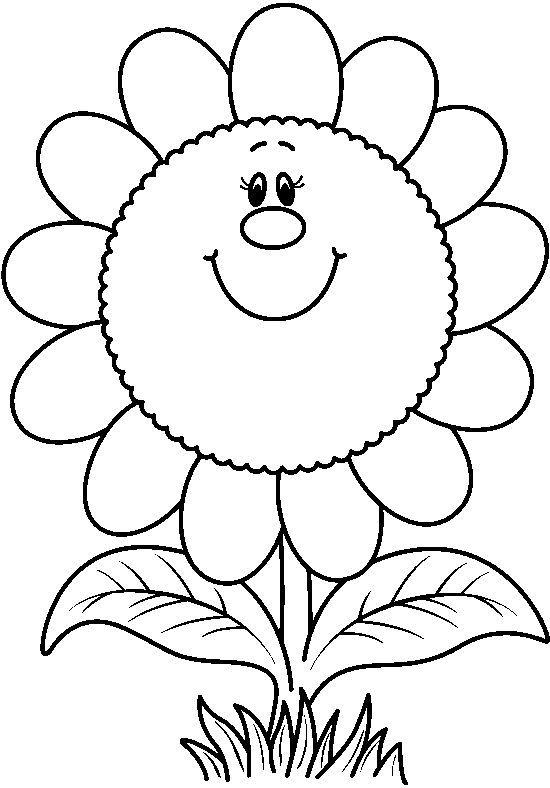 dibujos para colorear: Las flores | FLORES | Pinterest | Ladybug art ...