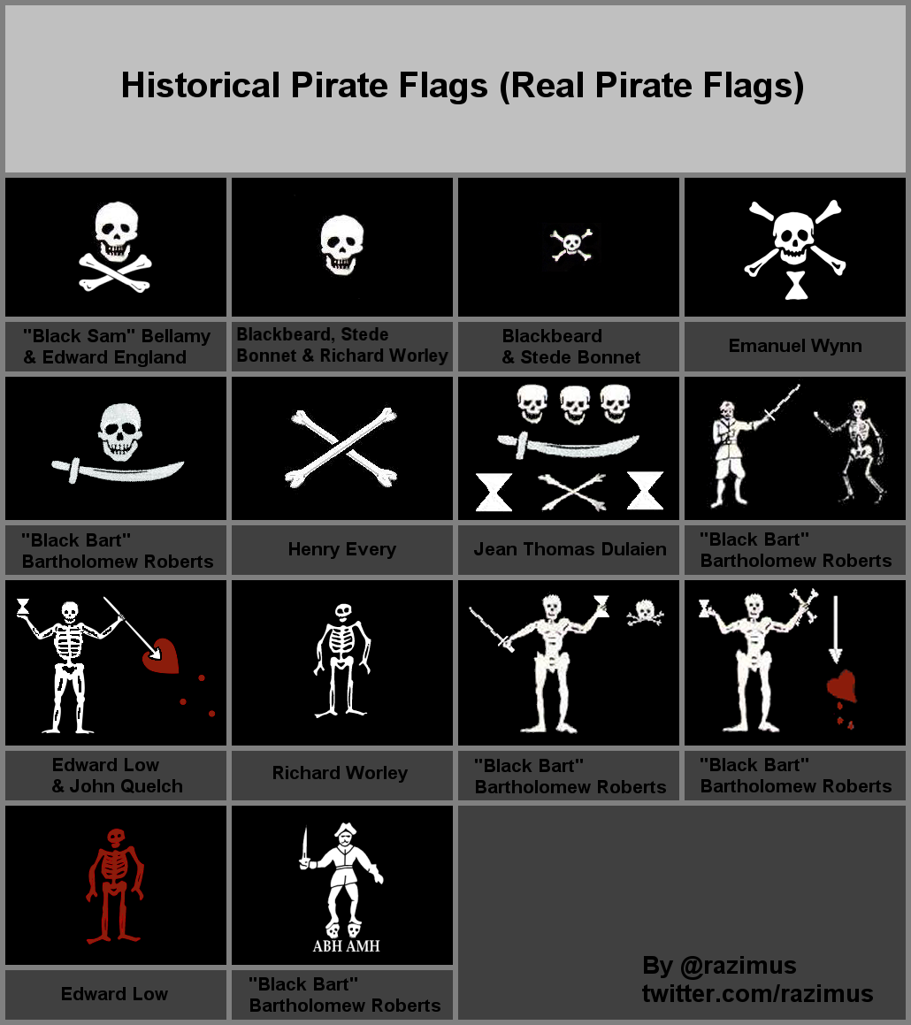 More historical pirate flags to add to the collection ...