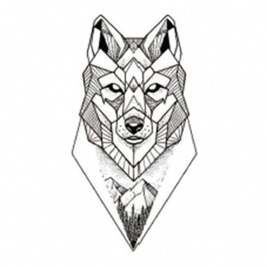 Geometric Wolf Sleeve: Geometric Wolf Tattoo, Tattoos