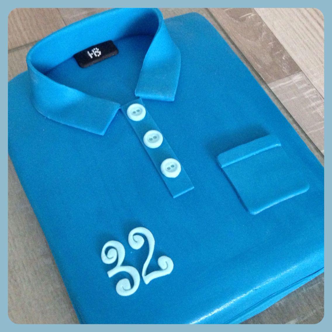 shirt taart Polo shirt taart van fondant   Sugar  shirt taart