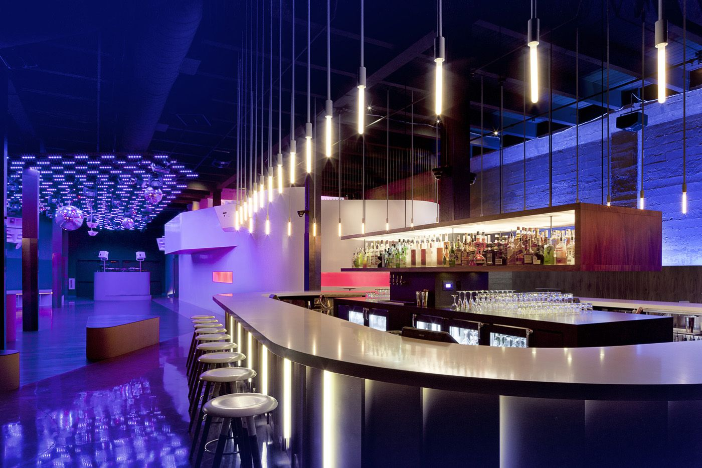 Floor plans for nightclubs the month q nightclub for Modern lounge designs