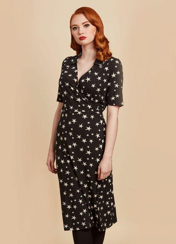 e6f4fa6eefbe0 Vonnie Star Print Wrap Dress in 2019 | My Style | Wrap Dress, Star ...