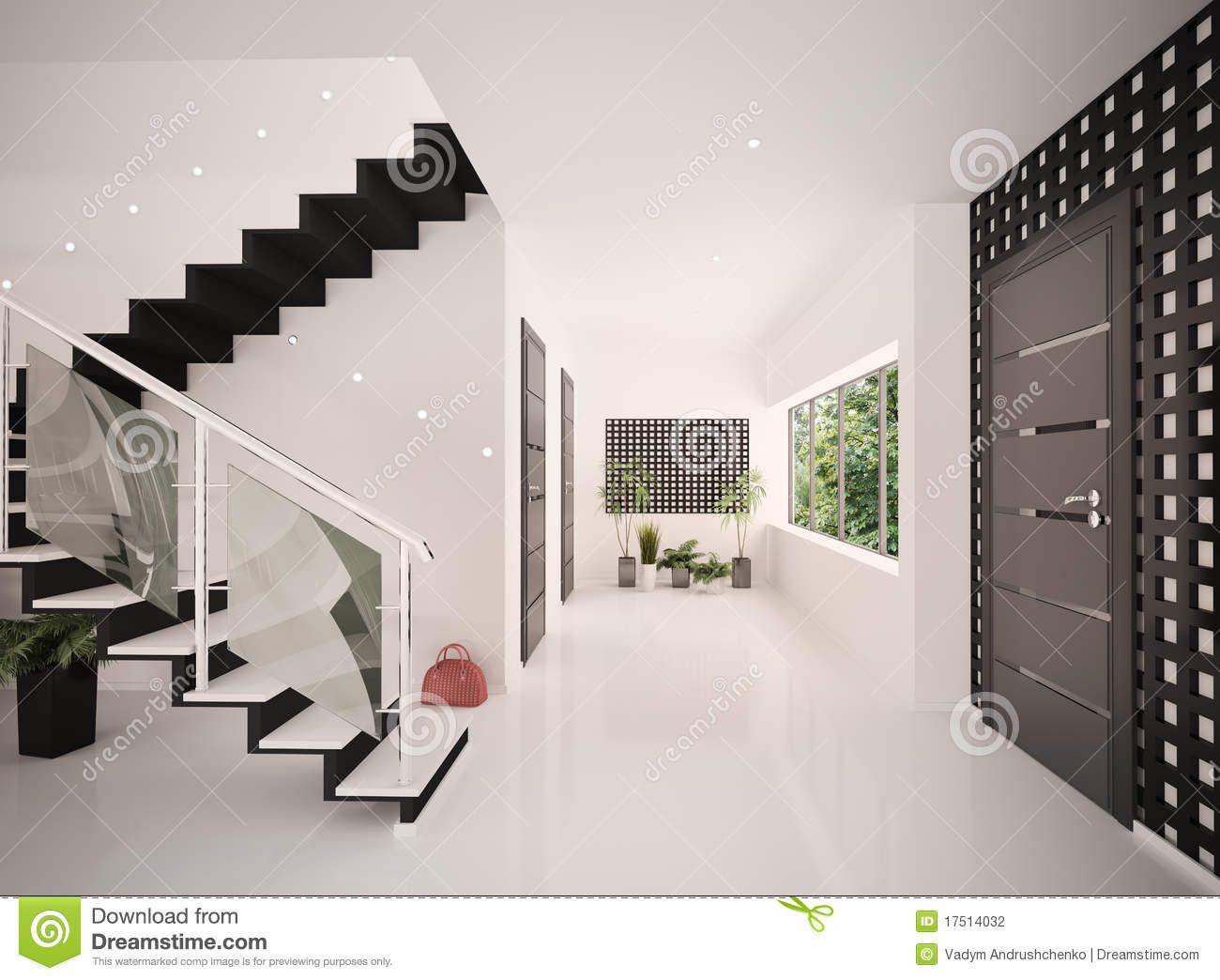 Hall D Entrée Moderne hall d'entrée intérieur | photographie stock: l intérieur du