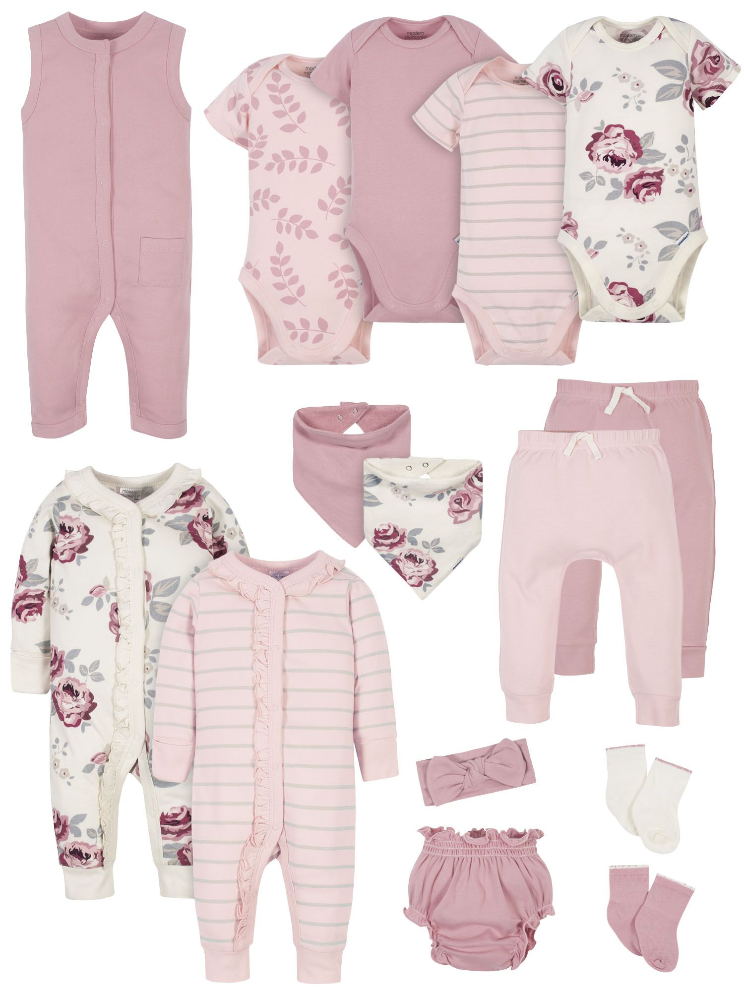 Burts Bees Baby Baby Girls Layette Set