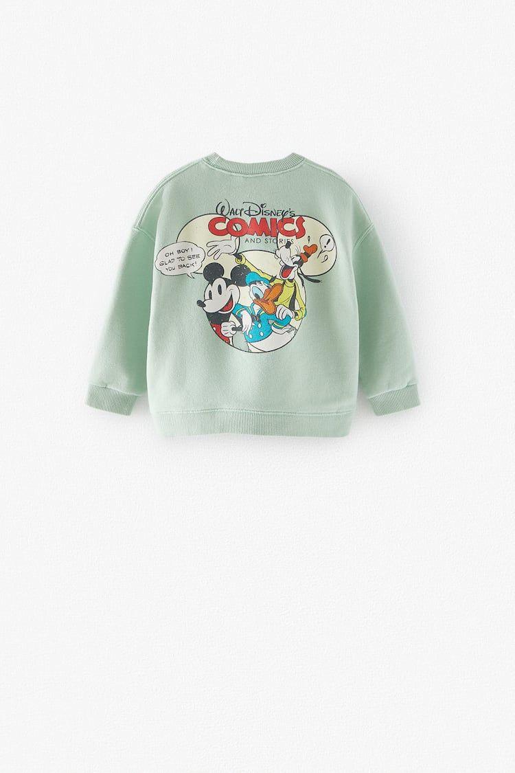 Sudadera Mickey Mouse Disney Zara España Disney Sweatshirts Sweatshirts Mickey Mouse Sweatshirt