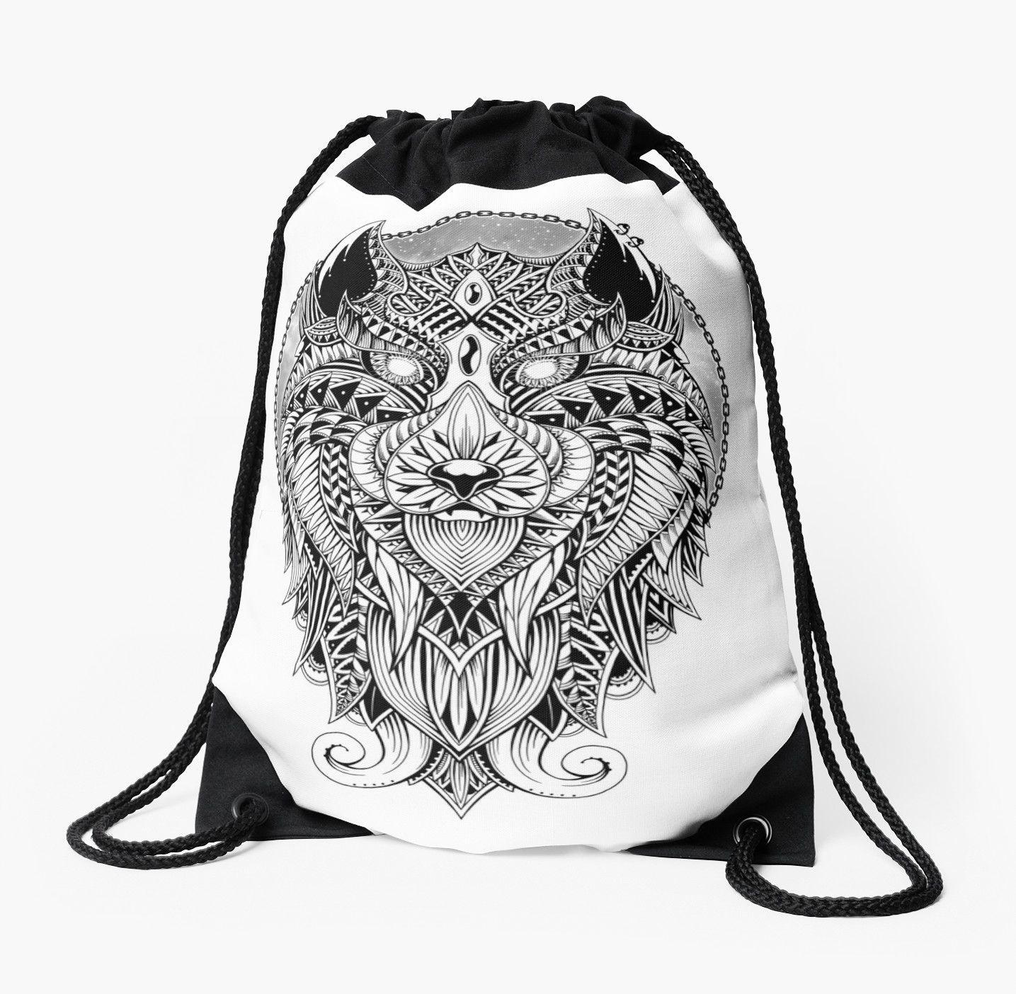 Drawstring Backpack Wild Horses Rucksack