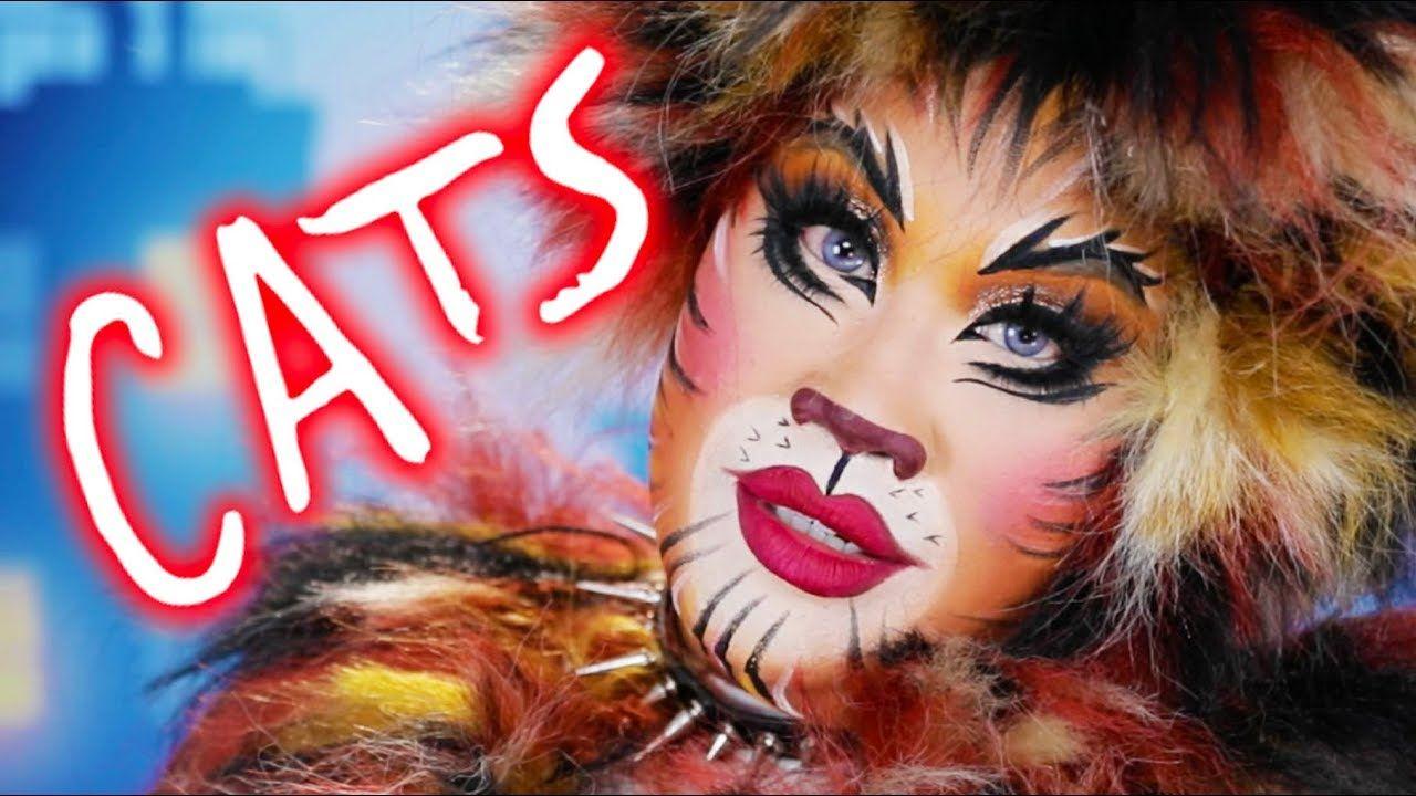 Cats Broadway Makeup Tutorial Patrickstarrr Youtube Cat Makeup Tutorial Face Painting Tutorials Cat Makeup