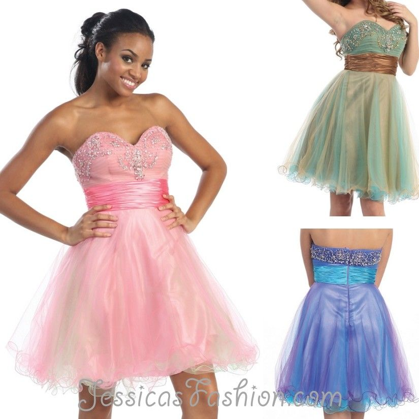 Short Prom dress in color Fuchsia/Pink, Purple, Gold & more ...