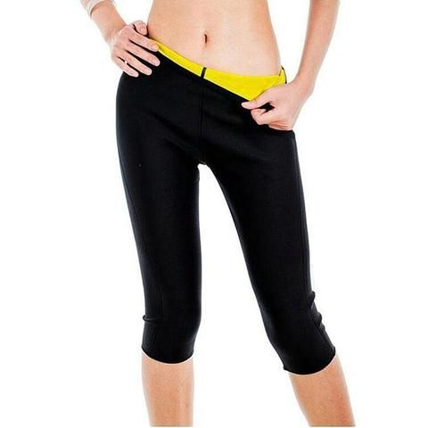 a90a55a891537 2018 Womens Slimming Pants Hot Thermo Neoprene Sweat Sauna Body Shapers  Fitness Stretch Control Panties Burne Waist Slim Pants
