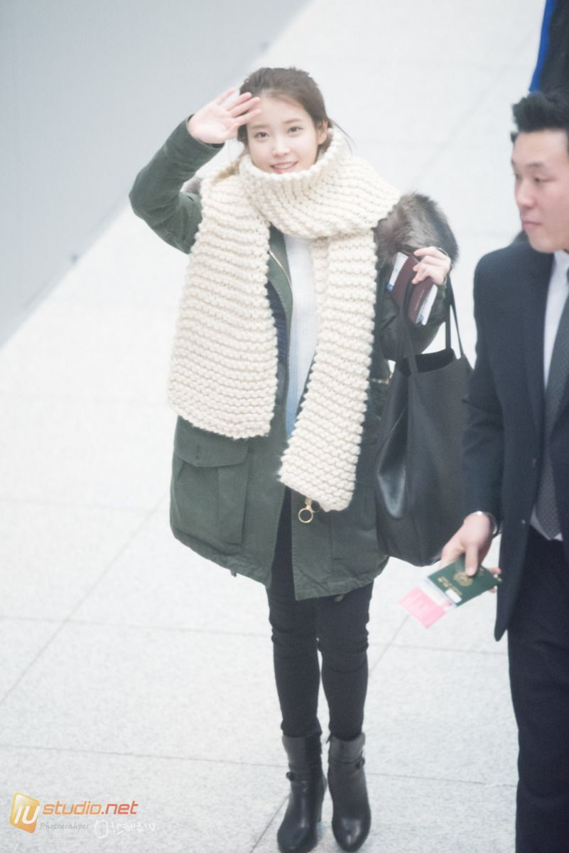 151219 ‪#‎IU‬ departing Incheon going to Hong Kong