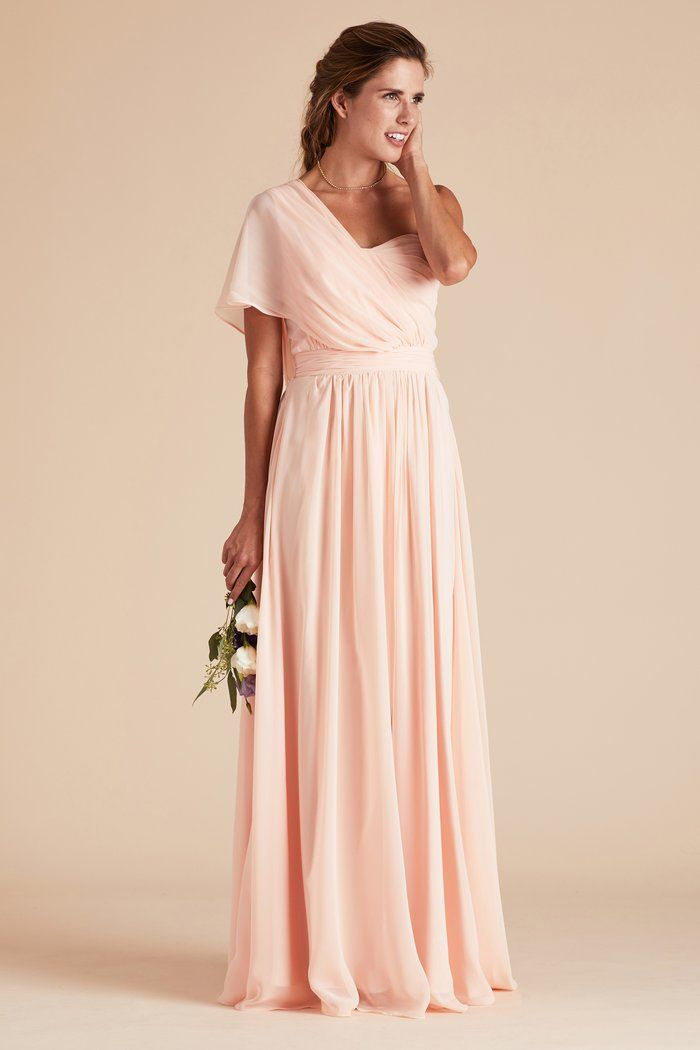 b86c7ce8617 Birdy Grey Gracie Chiffon Convertible Bridesmaid Dress in Blush Pink - How  To Tie Convertible Bridesmaid Dress One Shoulder under  100