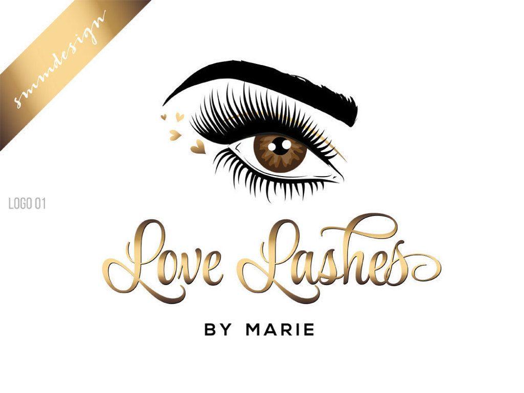 Logo design eyelash logo beauty logo makeup logo design