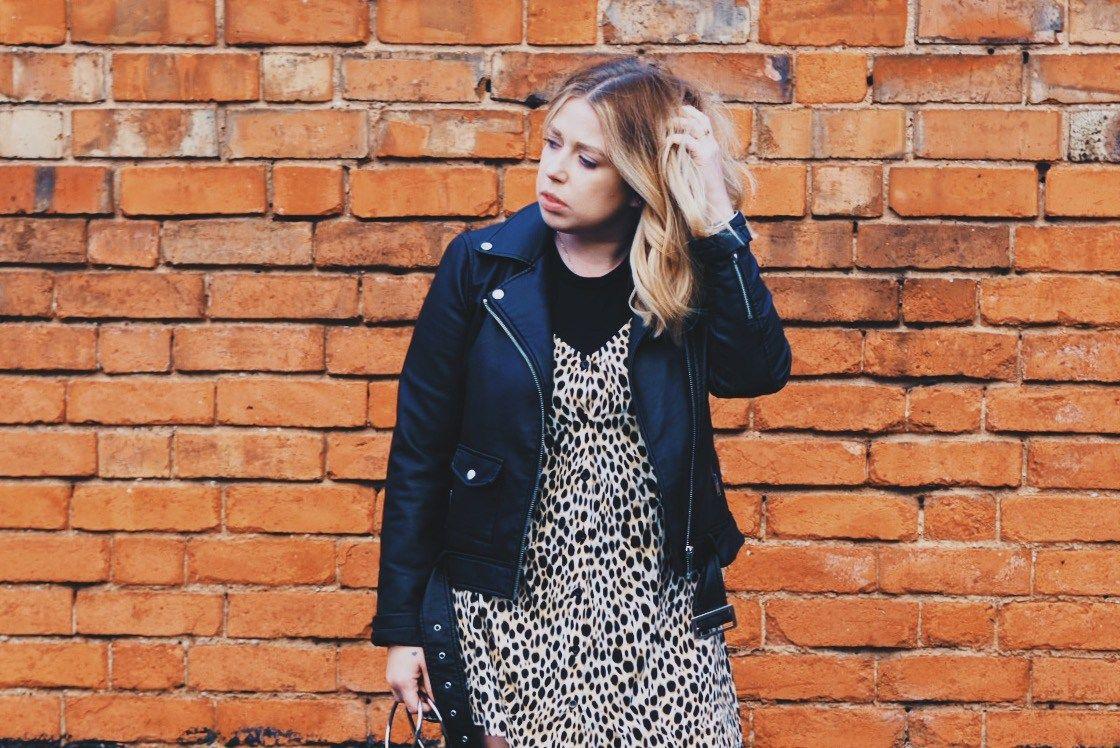 0d380f4a30ce Cheetah/Leopard/animal print motel rocks slip dress, warehouse faux leather  jacket, public desire sock boots and zara circle handle bag, fashion  blogger, ...
