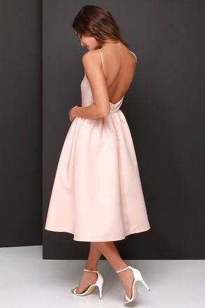 Lead a Charmed Life Peach Midi Dress