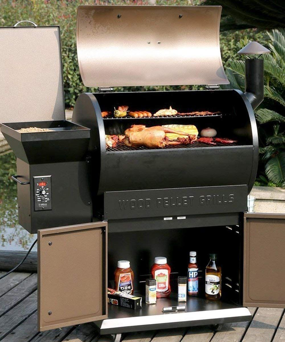 Amazon.com : Z GRILLS Wood Pellet Grill Smoker with Patio ...