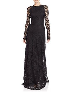 6941a534856 Ralph Lauren Collection - Lorriane Long-Sleeve Lace Gown