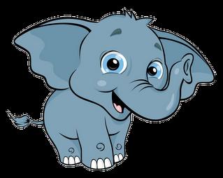 cute baby elephant clip art clipart animals pinterest art rh pinterest com clipart of elephant clipart of elephant for colouring