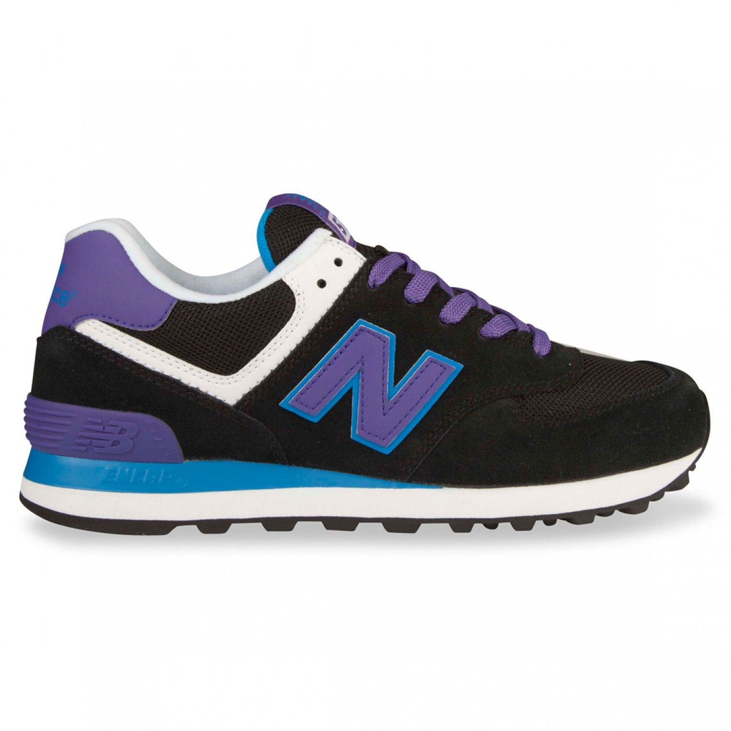 new balance 574 series navy blue womens trainers