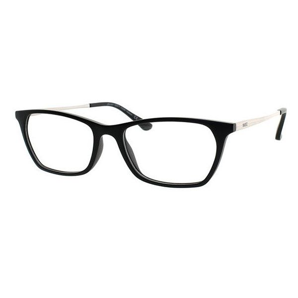 visiondirect Collection Jamaica Avenue JSV-047 M02 Eyeglasses (63 CAD) ❤ liked on Polyvore featuring accessories, eyewear, eyeglasses, black and lens glasses