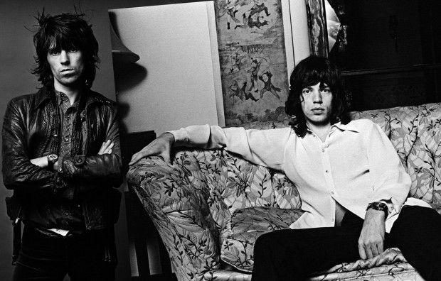 Norman Seef, Mick Jagger & Keith Richards, 1971