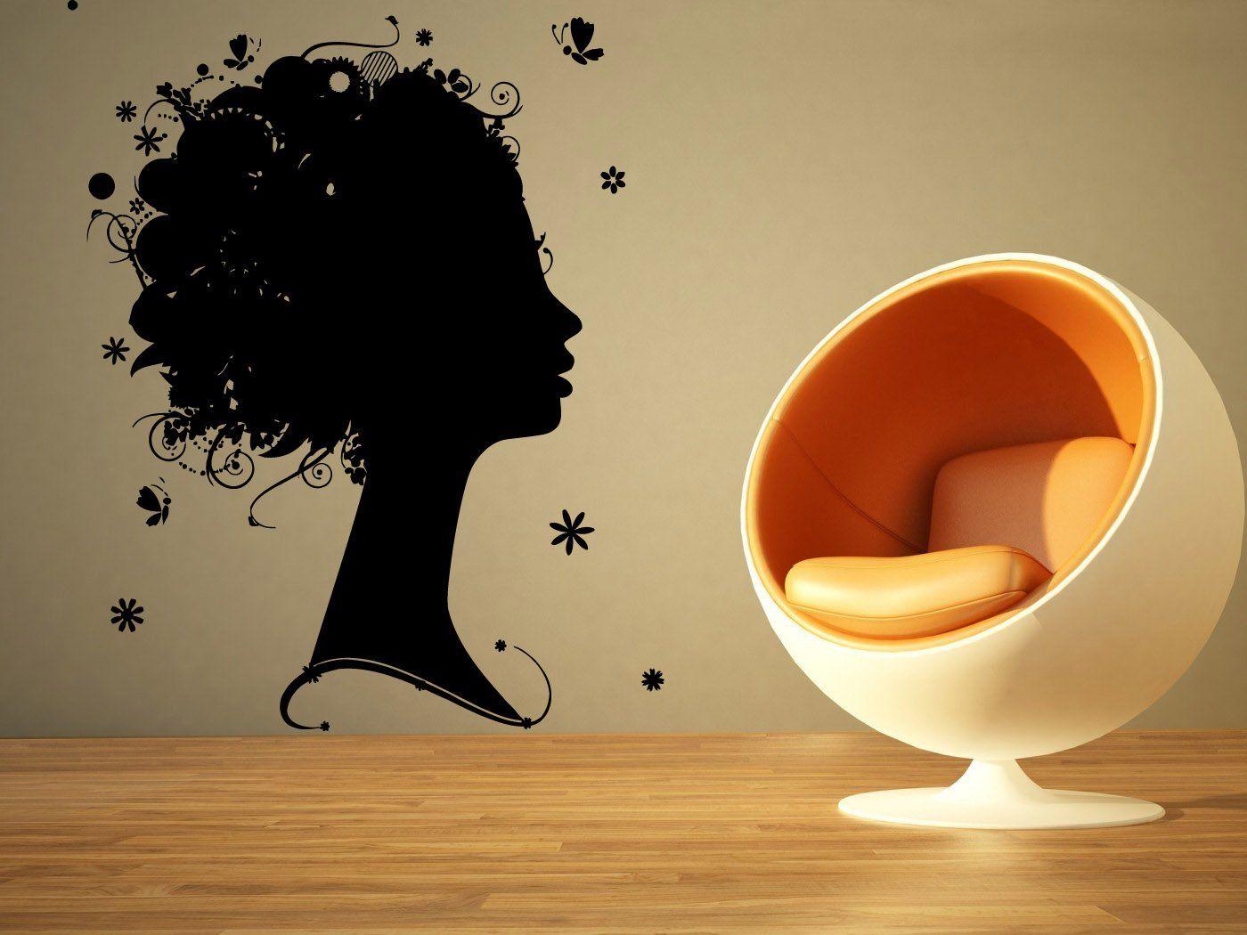 Wall Room Decor Art Vinyl Sticker Mural Decal Hair Beauty Salon Girl ...