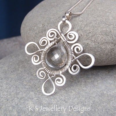 K S Jewellery Designs: New wire jewelry tutorial - Sprial Loop Frames