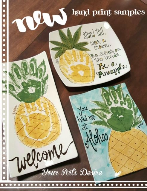 How Cute Handprints Turned Into Pineapples Perfect For Summer