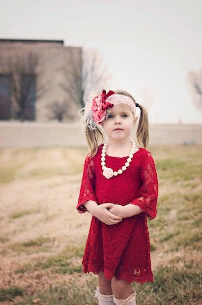 Hey, I found this really awesome Etsy listing at https://www.etsy.com/listing/215229103/red-lace-flower-girl-dress-flower-lace