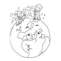 Dia De La Tierra Dibujos Para Colorear De La Tierra Dia De La Tierra Medio Ambiente Para Colorear La Tierra Dibujo
