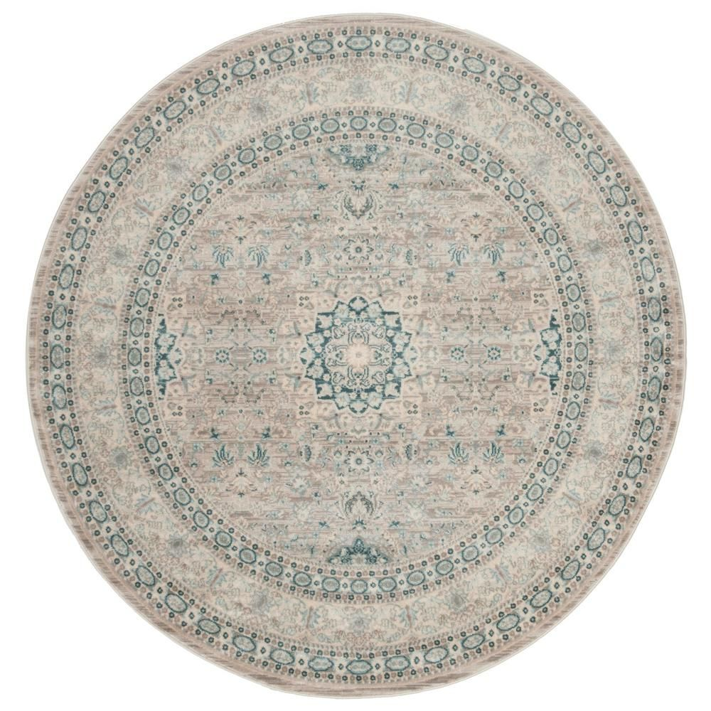 Safavieh Archive Gray Blue 5 Ft X 5 Ft Round Area Rug Arc671a 5r