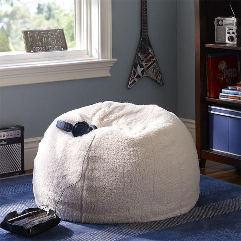 Sherpa Small + Large Beanbags PBteen Ziegler - Gameroom