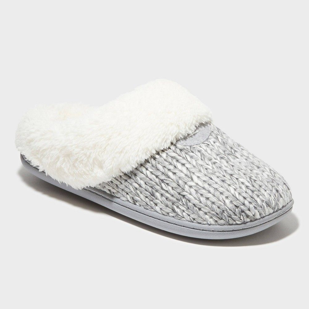 Women's dluxe by dearfoams Carol Scuff Slide Slipper - Gray S Featuring our innovative DF Adapt no-sweat comfort technology and durable indoor/outdoor outsoles our Carol slippers are a must for all-day comfort. Plush memory foam insoles cradle your feet with every step while convenient machine washable designs help you stay fresh! Dluxe by Dearfoams slippers include a 1 year warranty against manufacturer?s defects from the date of purchase. Color: Gray. Gender: female. Age Gr #dluxebydearfoams