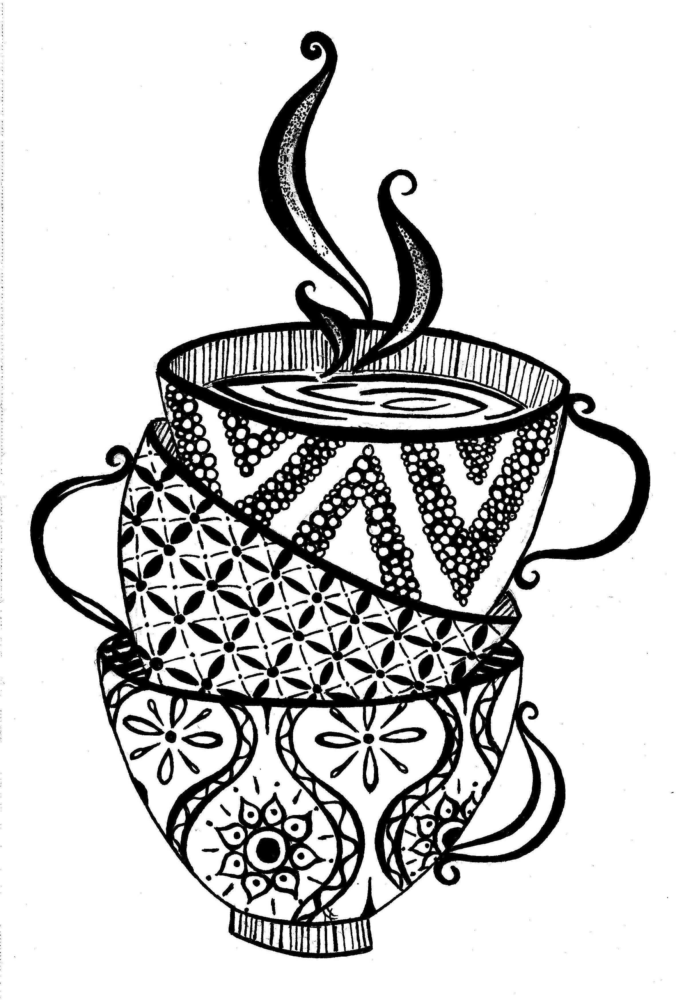 tasses à thé | Broderie Café Thé Chocolat et viennoiseries ...