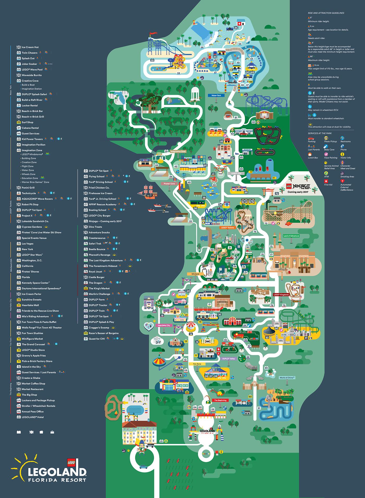 Map Of Legoland Florida Legoland Florida map 2016 on Behance | Legoland florida, Legoland