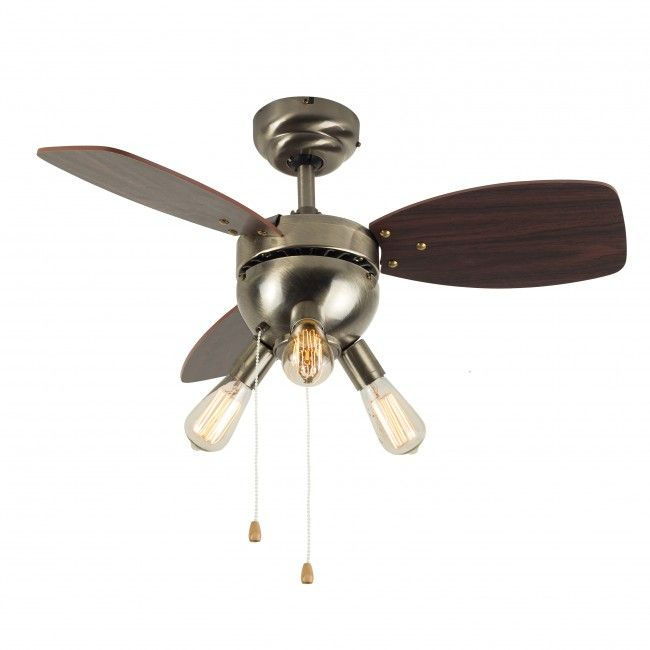 Designer style lighting for less minisun merlin antique brass ceiling fan with 3 lights buy discounted designer lighting from iconic lights