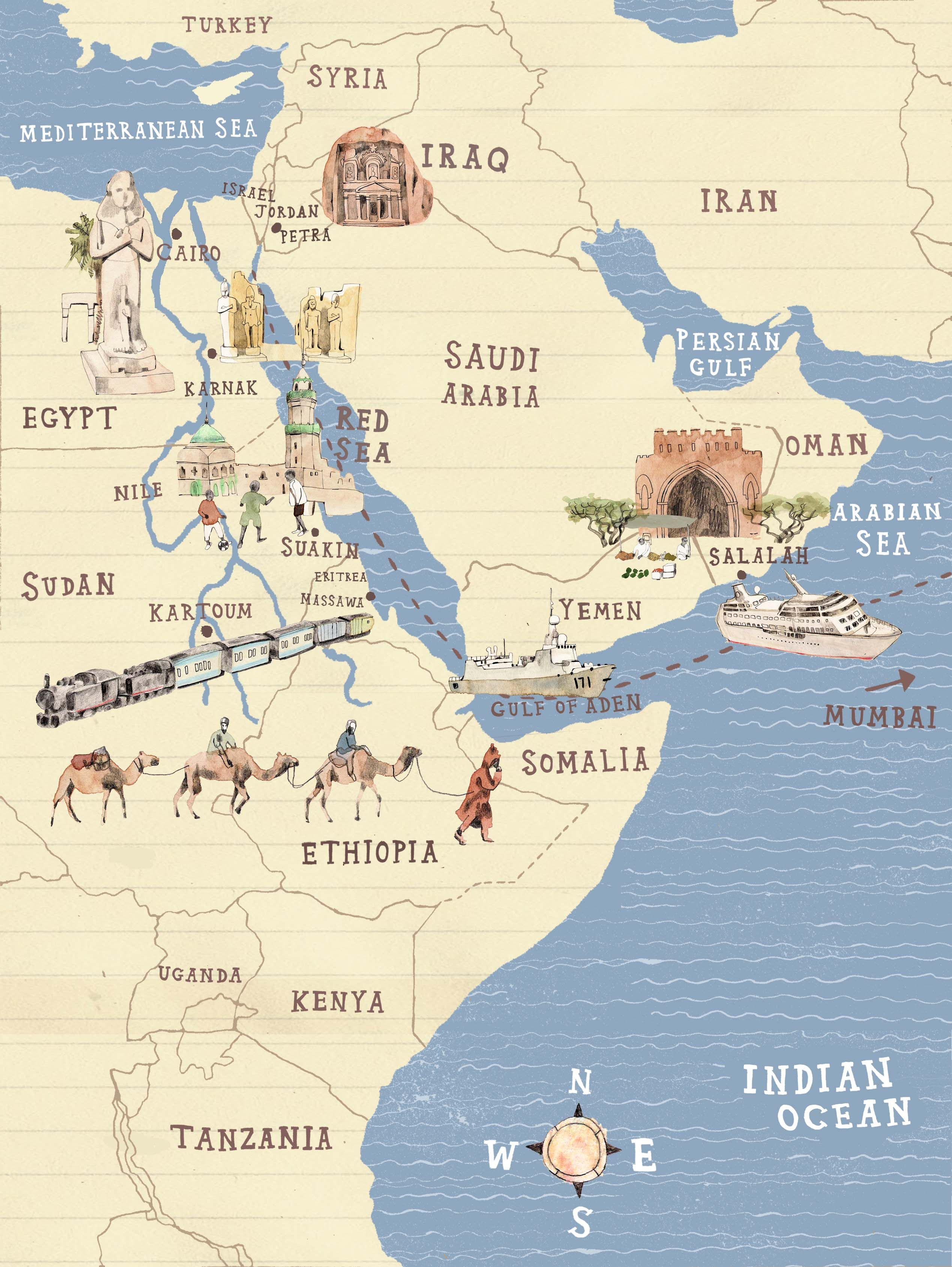 Above is a Political map of the Middle East At least 12 Arab