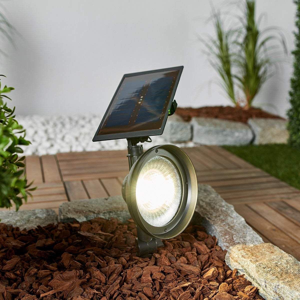 Led Erdspiessstrahler Riley Mit Solarpanel Solarpanel Led Und Solar