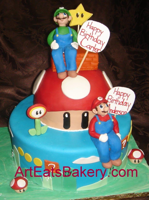 3D fondant cakes based on video games Fondant birthday cakes