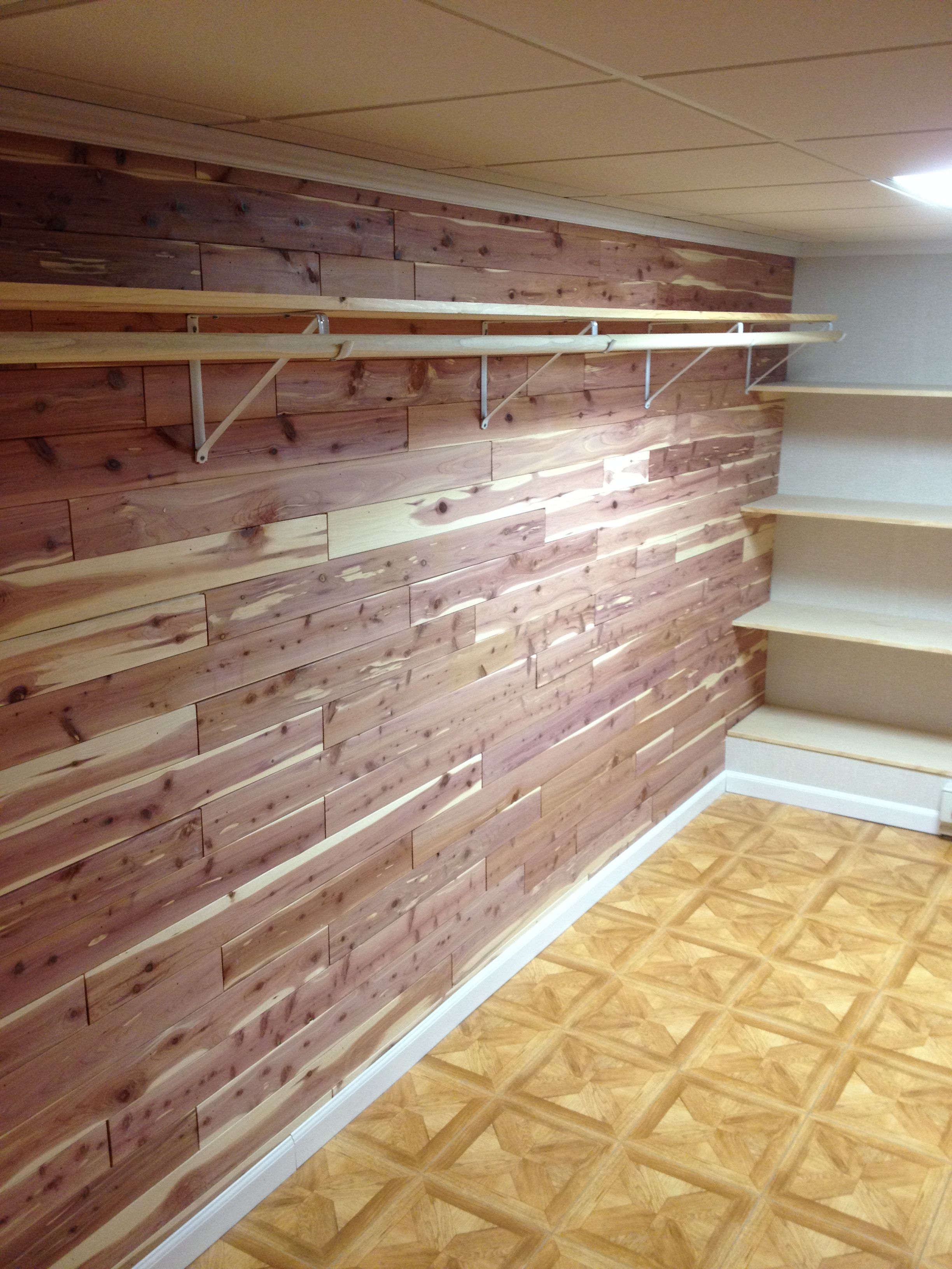 New Cedar Closet In The Basement! @Total Basement Finishing  #basementfinishing