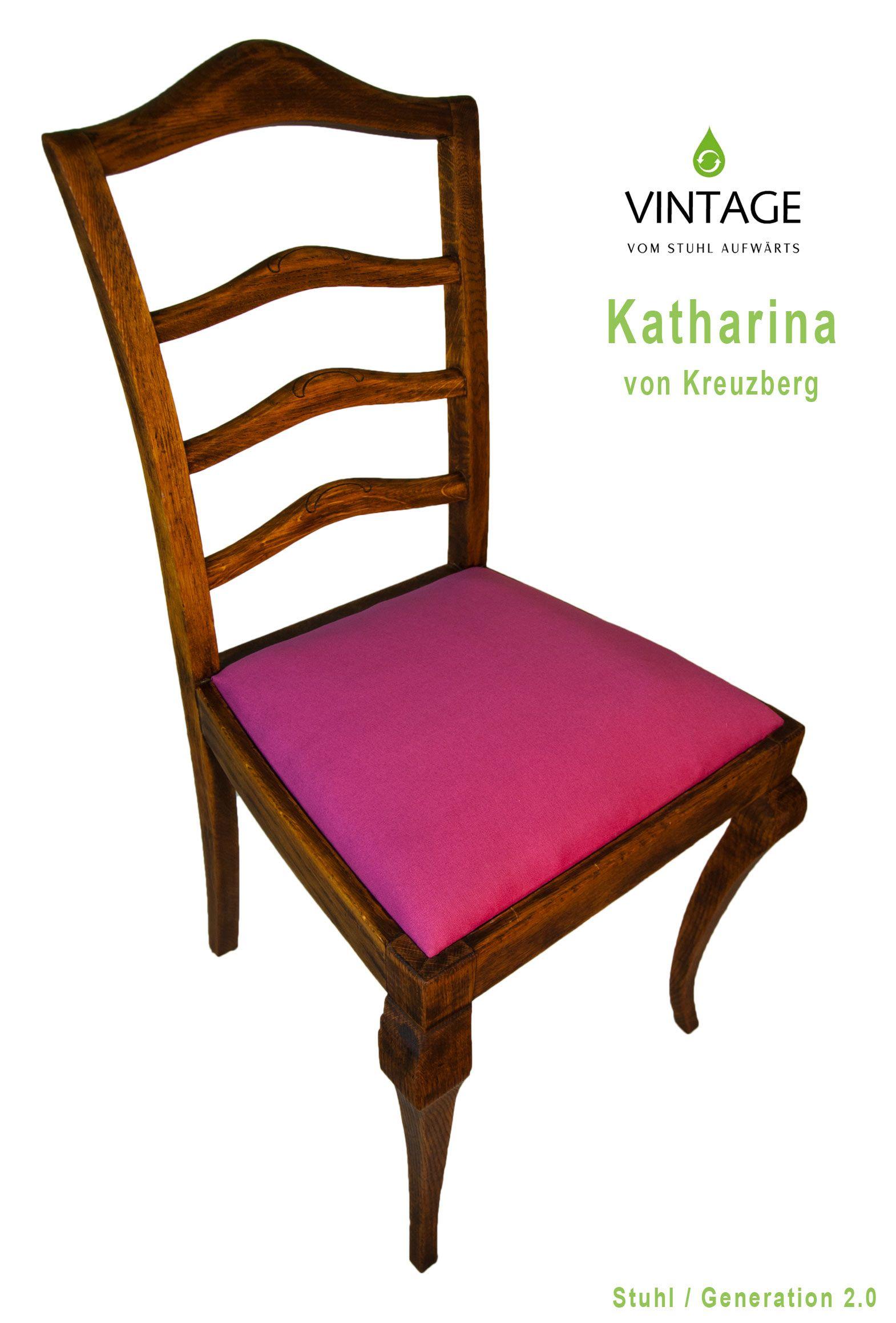 Bezaubernd Holzstuhl Mit Polster Beste Wahl Katharina Von Kreuzberg #vintage #stuhldesign #vintagemöbel #alterstuhl