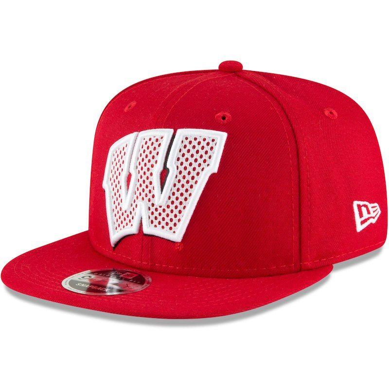low priced 3b134 dc192 Wisconsin Badgers New Era Meshed Mix 9FIFTY Adjustable Hat – Red
