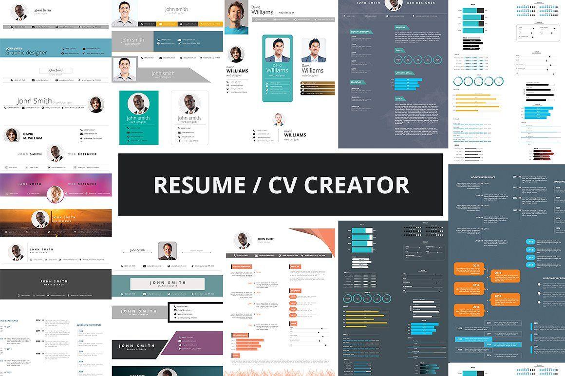 Resume Cv Creator Kit Resume Cv Resume Website Creation