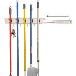 Home, Furniture & DIY Sliding Rail for to Food & Kitchen Storage Equipment Store N Slide Magic Holder 5 Position Mop and Broom Holder