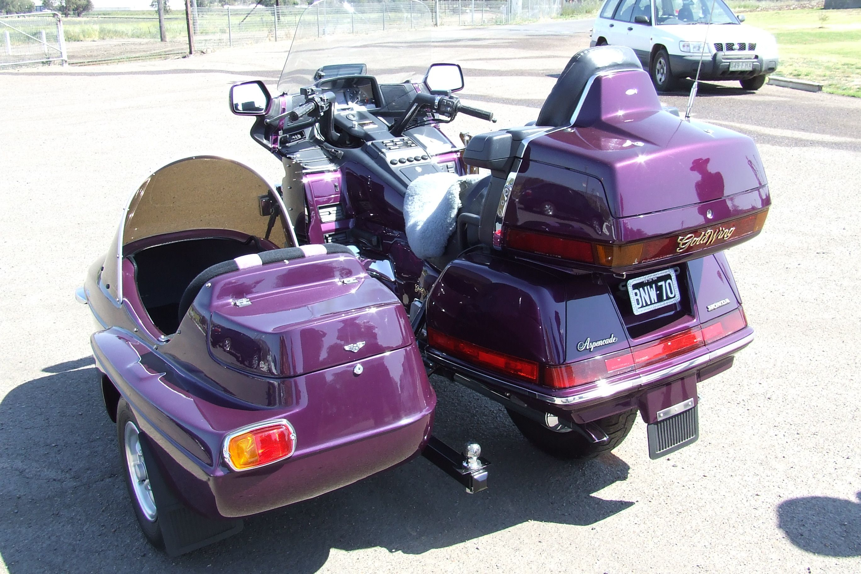 Gl1800 Trailer Wiring Diagram 3sgte St215 Honda Goldwing And Sidecar Note Also The Tow Ball For
