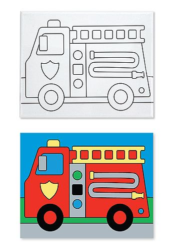 Canvas Creations - Fire Truck  $7  For his transportation room