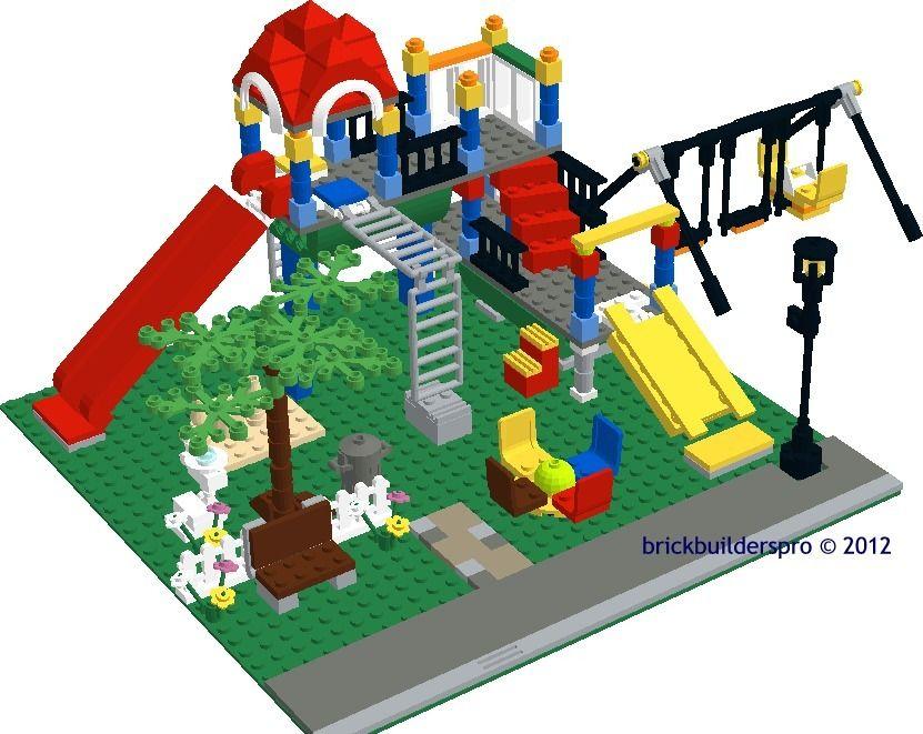 City Playground Instructions Lego City Town Ideas Pinterest