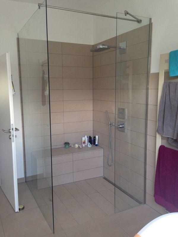 2 Festteile Für Walk In Dusche Aus Echtem Glas