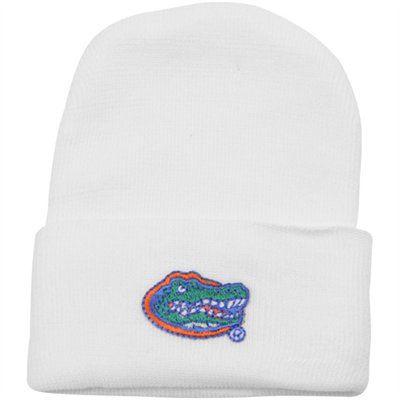 brand new 2473b 02844 Florida Gators Newborn White Cuffed Knit Beanie