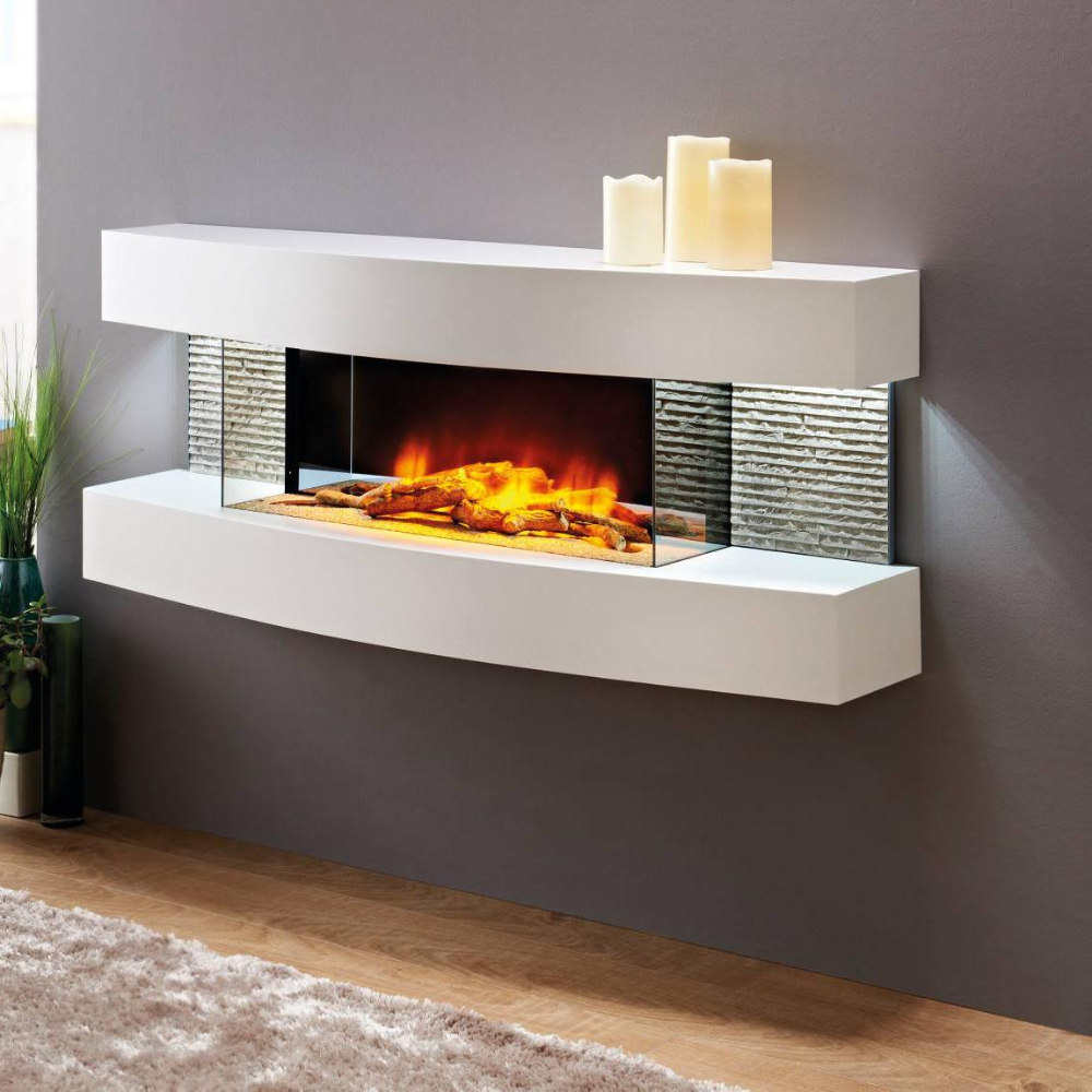 Evolution Fires Miami Curve 48 Inch Wall Mount Electric Fireplace