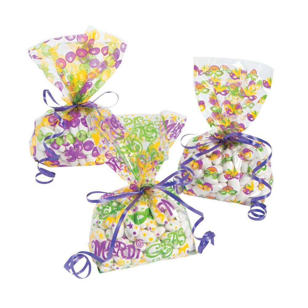 Mardi Gras Cellophane Bags | Cellophane bags, Mardi gras and Products